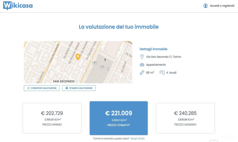 sistema wikicasa valutazione immobiliare